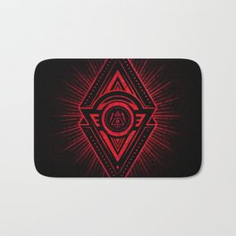 The Eye of Providence is watching you! (Diabolic red Freemason / Illuminati symbolic) Bath Mat