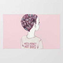 need money, not boys Rug