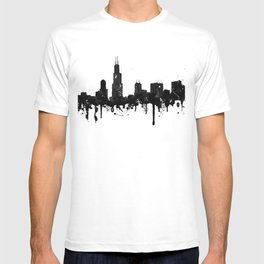Watercolor Chicago Skyline T-shirt