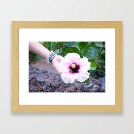 Lovely Island Flower Photo Print Framed Art Print