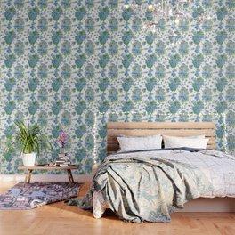 Blue Hydrangea Watercolor Wallpaper