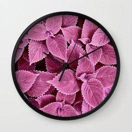 Leafy Pinks Wall Clock