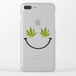 Weed Smile Clear iPhone Case