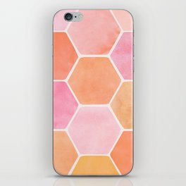 Desert Mood Hexagon Print iPhone Skin