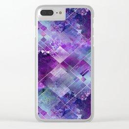 Marbleized Amethyst Clear iPhone Case