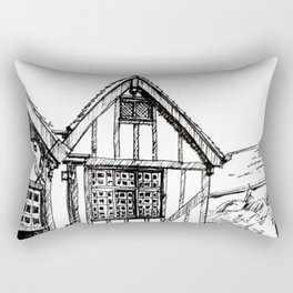 Traditional House in York, England Rectangular Pillow