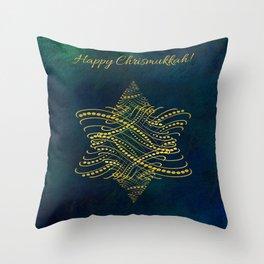 Happy Chrismukkah! Throw Pillow