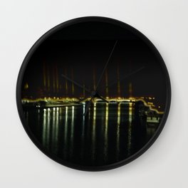 bridge in the dark Wall Clock