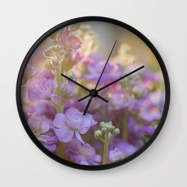 Sunlit Purple Stock Wall Clock