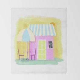 Ice Cream Shop Throw Blanket