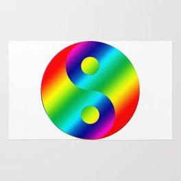 Rainbow ying yang Rug
