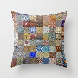 Persian Art Montage Throw Pillow