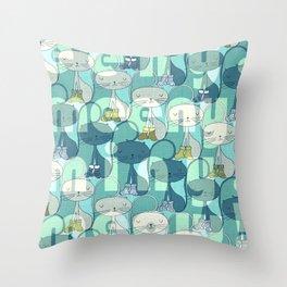 eeny, meeny, miny, meow! Throw Pillow