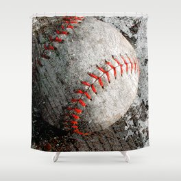 Baseball Art Shower Curtain
