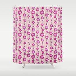 Raspberry Crush Wildflower Shower Curtain