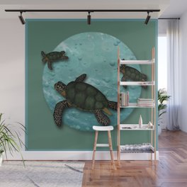 Together (Sea Turtles) Wall Mural