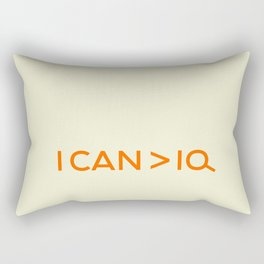I CAN is greater than IQ Rectangular Pillow