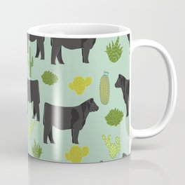 Cattle breed cactus farm gifts homestead art cow illustration Coffee Mug