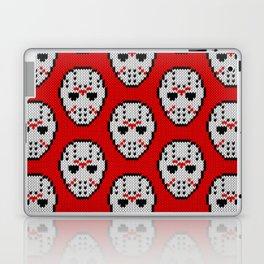 Knitted Jason hockey mask pattern Laptop & iPad Skin
