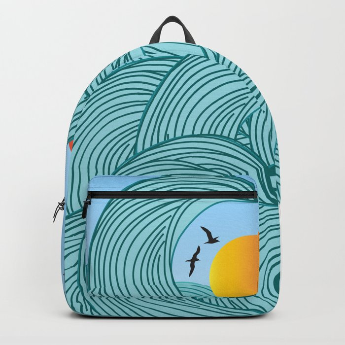 sea wave 4 Backpack
