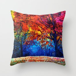 Tardis Tree Art Blossom Throw Pillow