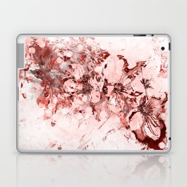 4 23 Abstract Cherry Blossoms in Red Laptop & iPad Skin