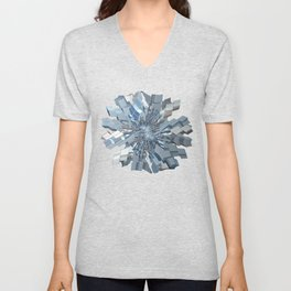 Fractal Snowflake Unisex V-Neck