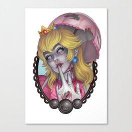 Zombie Peach Canvas Print