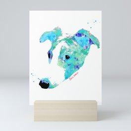 gizmo the whippet Mini Art Print