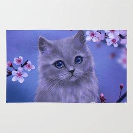 Spring kitten Rug