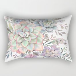 succulent watercolor 8 Rectangular Pillow