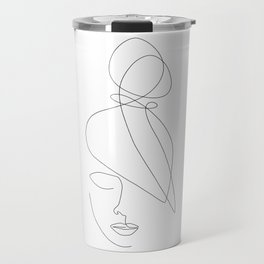 Hairstyle Lines Travel Mug
