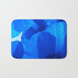 Blue Poppies #decor #society6 #buyart Bath Mat