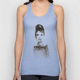 Audrey Hepburn portrait 01 Unisex Tank Top