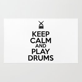 Keep Calm and Play Drums Rug