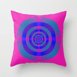 Blue Violet and Pink Target Throw Pillow