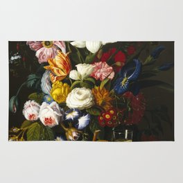 Severin Roesen - Victorian Bouquet Rug