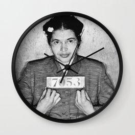 Rosa Parks Mugshot Wall Clock