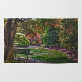 The Park Bench Rug