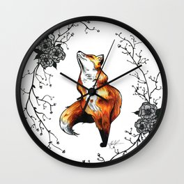 Dainty Fox Wall Clock