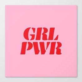 Girl Power GRL PWR Canvas Print
