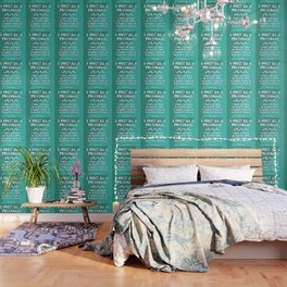 I Must Be A Mermaid – Emerald Palette Wallpaper
