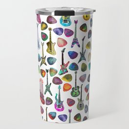 Guitars and Picks Travel Mug