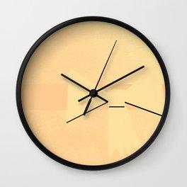 Golden Bow Wall Clock