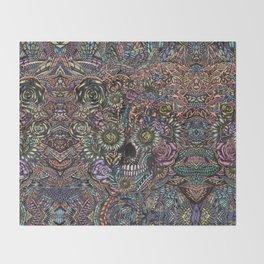 Sensory Overload Skull in Pastels Throw Blanket