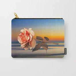 Calm, Rose, Flower, Home Decor, Scenic Wall Art, Printable Artwork, Digital Print, Christmas, Sunset Carry-All Pouch