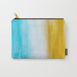 Aqua & Gold Abstract Carry-All Pouch