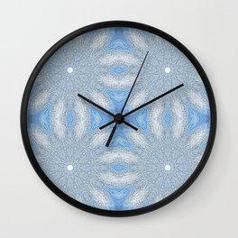 Serenity Blue & Gray Flower Wall Clock