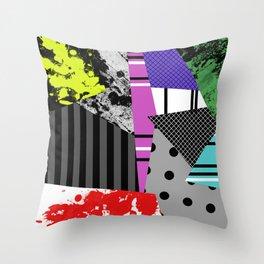 Pick A pattern II - geometric, textured, colourful, splatter, stripes, marble, polka dot, grid Throw Pillow