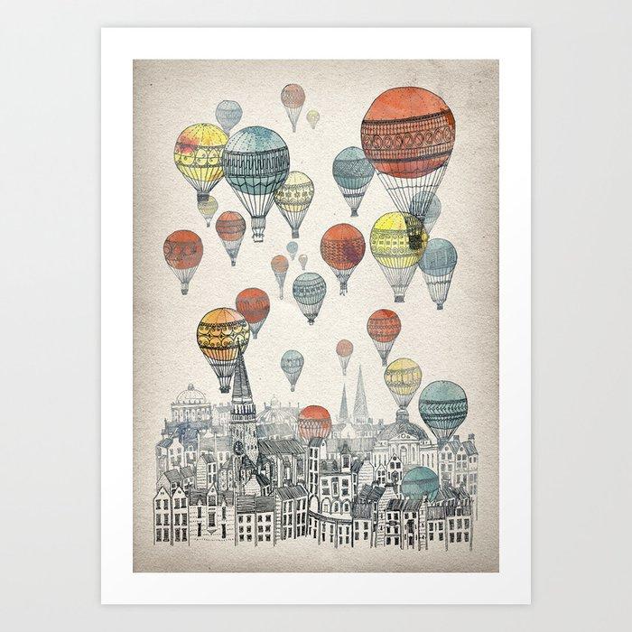 Voyages over Edinburgh Art Print